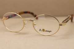 322599cd1d3 gold wood glasses frames eyeglasses frame men round Metal 2822546 Glasses
