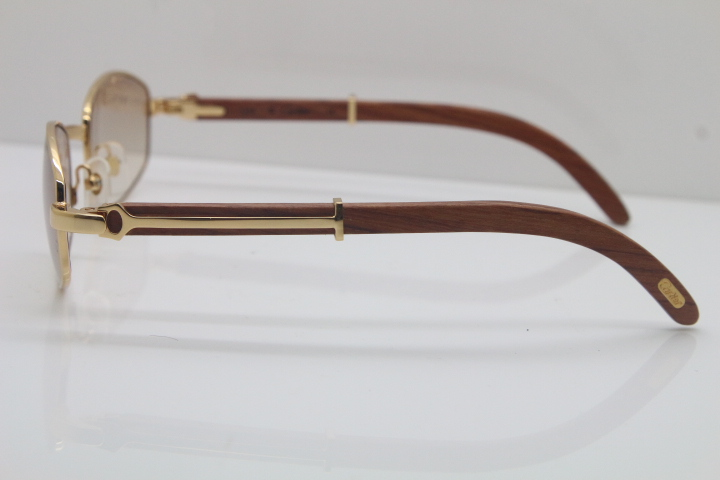 7ce01f64e74 Product Name Carter CT 2902518 Wood Sunglasses in Gold Frame  Size 55-22-135mm (Eye-Bridge-Temple) Colors Gold Brown Lens or Silver Brown  Lens.
