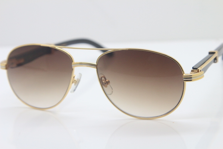 4dbc074d4bed0 Fulinglasses Cartier Rimless Sunglasses Buffalo Horn Optical Cartier  Diamond Stainless Steel Wood Smaller Big Stones Gucci Dior LV RayBan  Sunglasses