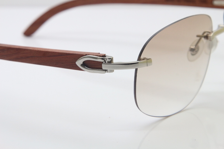 e7c81fe4fd7 Product Name Wholesale High-end brand Cartier T8100928 Original Wood  Sunglasses in Gold Brown Lens Hot Frame Size 56-18-135mm (Eye-Bridge-Temple)